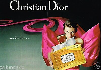 Publicité advertising 1992 (2 pages) Parfum Miss Dior par Christian Dior
