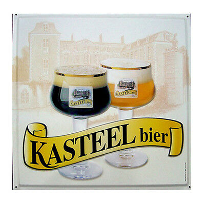 Quadro latta Birra Kasteel Belgio arredo bar pub birreria targa kit idea regalo