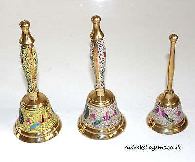 Prayer Bell Ghanti Temple Hindu Pooja Puja Article Traditional Brass