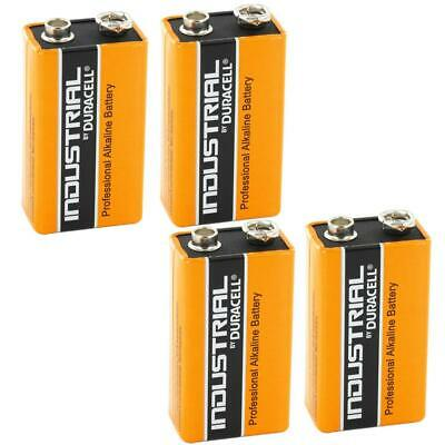 4X Duracell Industrial 9V PP3 Block Alkaline Batteries MN1604 Replaces Procell