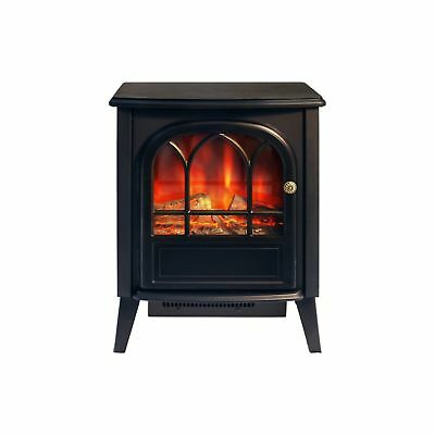 1.8KW Black Log Burning Flame Effect 1800W Electric Fire Heater Fireplace Stove