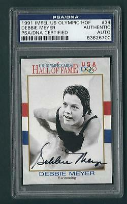 Debbie Meyer signed 1991 Olympic card PSA Authenticated Olympic Champion
