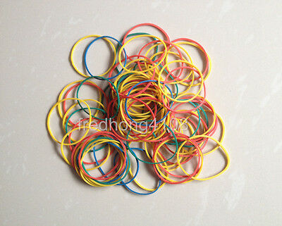 100pc DIY Mixed multicolor Office Supply Rubber Band Strong Elastic for Packing