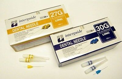 Dental Disposable Injection Needles 30G Long (0.3 x 25 mm) 100/pk by Interguide