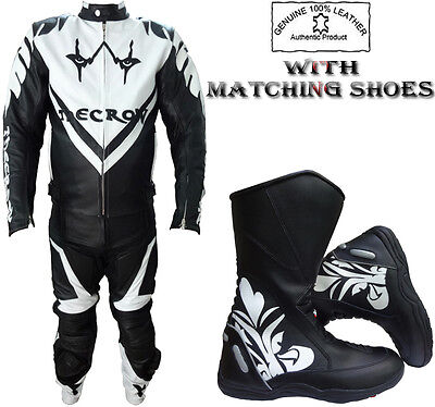 'the Crow' Style Mens Ce Armour Motorbike / Motorcycle Leather Jacket / Suit