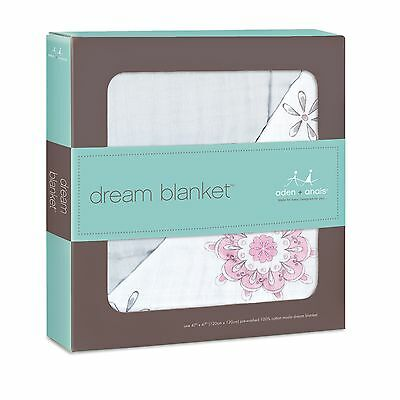 Aden and Anais Classic Dream Blanket - For the Birds Medallion