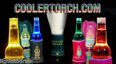 Drink Cooler & Torch + Bright Colour Changing Lights 6 Pack 3 Pink & 3 Purple