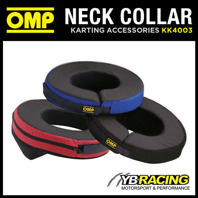 KK04003 OMP KARTING ANATOMIC NECK SUPPORT COLLAR - ADULT ONE SIZE in 3 COLOURS
