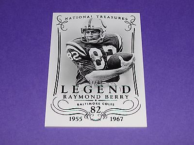 2014 National Treasures RAYMOND BERRY #146 Numbers Legend/82 BALTIMORE Colts SMU