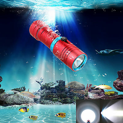 Waterproof 5000LM CREE XM-L2 LED Scuba Snorke Diving Flashlight Torch Light Lamp