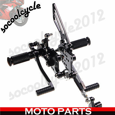 Rearset Foot Pegs Footrest Pedals For Aprilia RSV 1000 R FACTORY 04 05 06 07 08