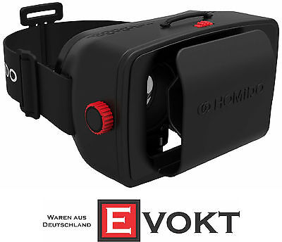 Homido VR 3D Headset 360° Data Glasses Virtual & Augmented Reality Genuine New