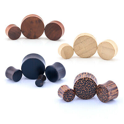 ORGANIC WOOD Wooden Plug Ear DOUBLE FLARE Saddle Flesh Tunnel Stretcher Expander
