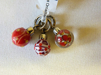 Trollbeads Sterling Silver Red Ornaments Limited Edition Beads