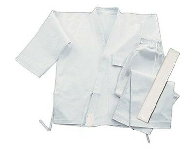 KARATE SUIT MARTIAL ARTS UNIFORM BRAND NEW WHITE 120cm /SIZE00  Polyester COTTON