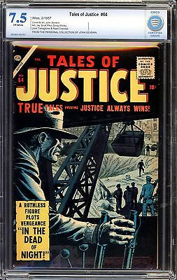 Tales of Justice #64 CBCS 7.5 JOHN SEVERIN COLLECTION!!!