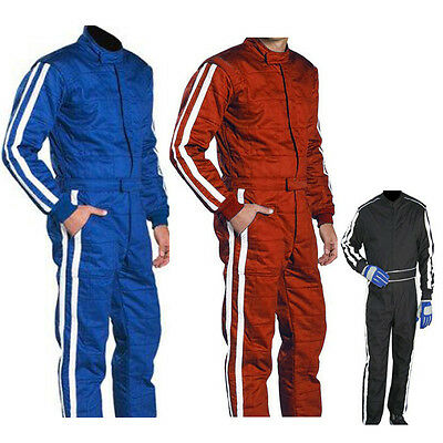 GO Kart Cordura RACE Suit-Blue-Black-Red with White Strip-NEW