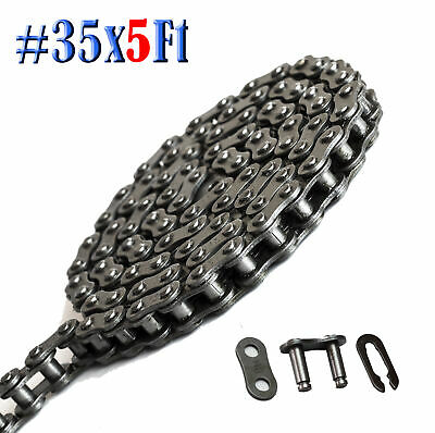 #35 Roller Chain 5 Feet with 1 Connecting Link For Mini Bikes Go Karts