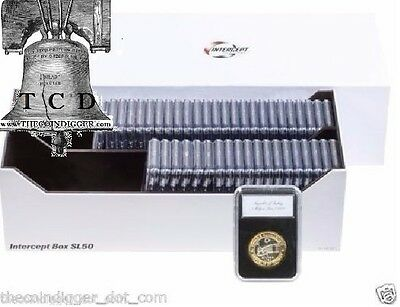 Lighthouse INTERCEPT Shield IBSL50 Slab Storage Box for 50 Certified Coin Slabs