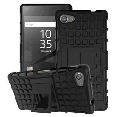 Sony Xperia Z5 Compact Outdoor Case TPU Hybrid Skidproof Kickstand Hülle Schwarz