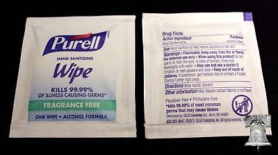 40 Purell Sanitizing Wipes 99.99% Cleans Hands for Coin Currency Handling + BOX
