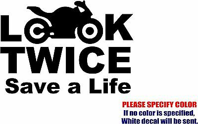 Look Twice Save a Life #04 Decal Sticker JDM Vinyl Car Window Bumper Truck 7""