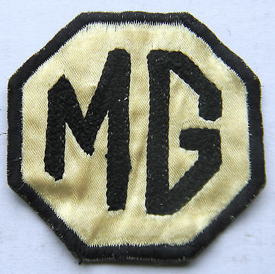 Vintage Original MG Rally Jacket Patch - Chain Stitched - 1940's