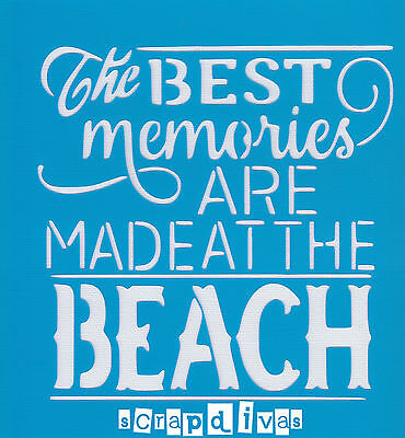 Scrapbooking - STENCILS TEMPLATES MASKS SHEET - Beach Design 259