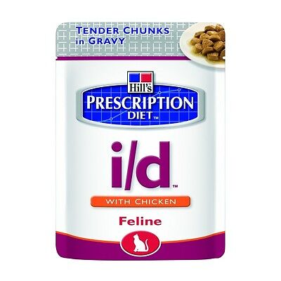 HILL S prescription diet  i/d feline chunks umido pollo 12 bust.da  85 gr. • EUR 20,50