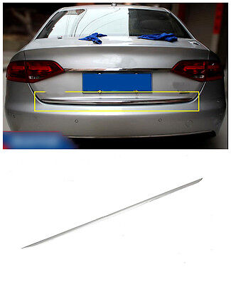 For Audi A4 B8 2008-2012 Stainless Chrome Exterior Rear Trunk Lid Cover Styling