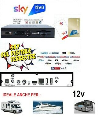 Digiquest EVO3.1 Decoder HD COMBO Satellitare,Terrestre, App Web SKY DIGITALE