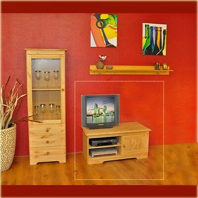 tv schrank fernsehschrank kiefer massiv gelaugt ge lt eur 150 00 picclick de. Black Bedroom Furniture Sets. Home Design Ideas