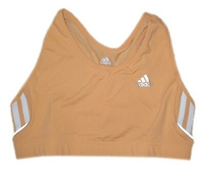 adidas 3 Stripe Crop Damen Running Shirt Sport Top Fitness Bra Sport-BH