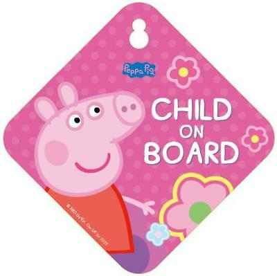Peppa Pig Safety Window Bumper Car Vehicle Signs Child Baby On Board Sign