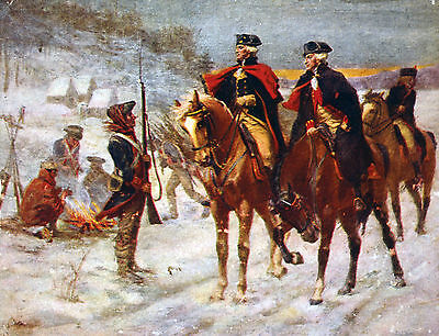 "George Washington At Valley Forge Painting Large 12.2""x 16"" Real Canvas Print"