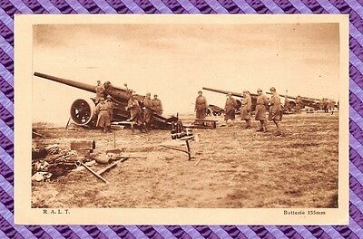 CPA 10 - MAILLY - Batterie de 155 mm