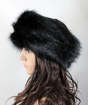 19dfed8d1ee New Women Russian Thick Fluffy Fox FAUX Fur Headband Hat Winter Ear Warmer  Ski
