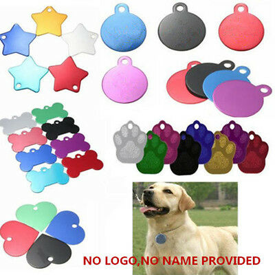 DIY Personalized Pet ID Tags Dog Cat Animal Name Necklace Tag Only