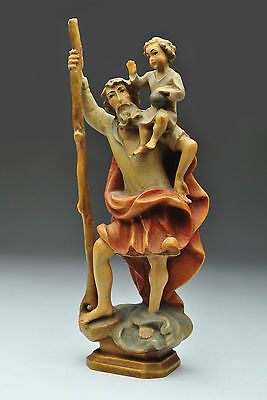 Anri Religious figures - St. Christopher and Christ Child - 5 3/4 inches tall