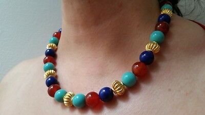 """Metropolitan Museum of Art -Thutmose III Bead Necklace - New with tags 18"""" L"""
