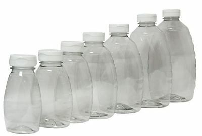 24 pack 1 lb bottles (454 g) Plastic Squeeze Bottles with white flip tops