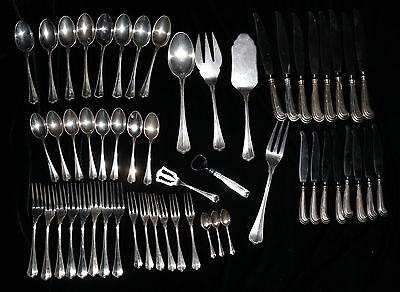 Italian 800 Silver Flatware Set for Eight Servings Marked Z 20th century