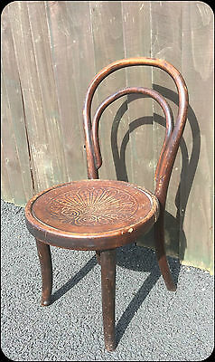 Very Old Child's Seat / Chair in wood Vintage Antique SALE