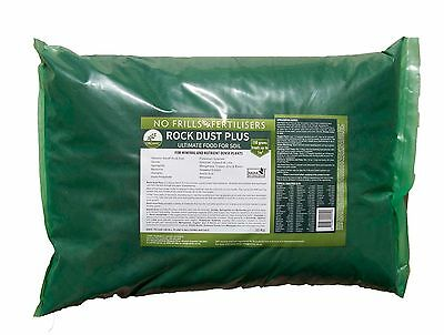 Rock Dust PLUS 20kg NO FRILLS  Certified Organic Fertiliser