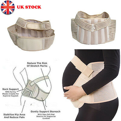 Pregnancy Back Support Maternity Belt Waist Belly Band Baby Bump Belly S M L UK
