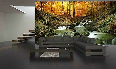 Forest Waterfalls Wall Mural Photo Wallpaper GIANT DECOR Paper Poster Free Paste