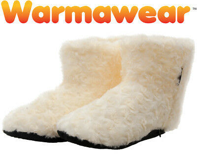 Warmawear Heated Slippers Dual Fuel Battery Indoor Autumn Winter Cosy Boots