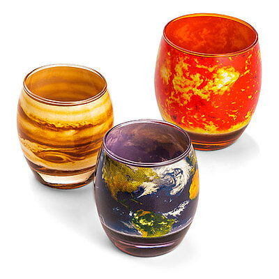 Planetary Glass Set - Complete Solar System Set of 10 Glasses *NEW*
