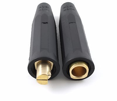 SÜA Welding Cable Connector 1/0 to 4/0 Pair Male & Female LC40 Style