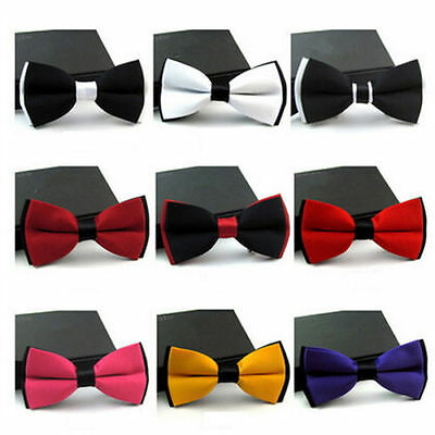 Fashion Tuxedo Silk Satin Assorted Color Adjustable Wedding Party Dickie Bow Tie